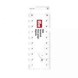 Ruční plastové měřítko PRYM 610 731, bílé, 10 cm, 1 ks