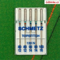 Jehly Schmetz - TOPSTITCH 130 N, 80+90+100, 5 ks
