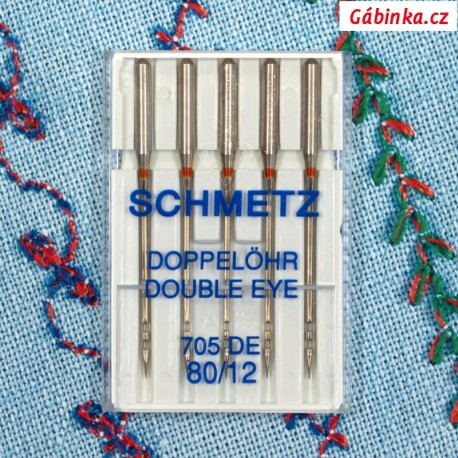 Jehly Schmetz - DOUBLE EYE 705 DE, 80/12, 5 ks
