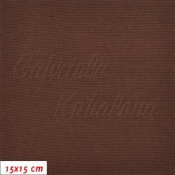 Kočárkovina, čokoládově hnědá, LESK 38, šíře 160 cm, 10 cm