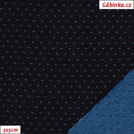 Úplet se stříbrem, funkční - černý líc, tmavě modrý rub, 5x5 cm
