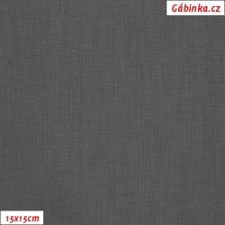Plátno - tmavě šedé, šíře 140 cm, 10 cm