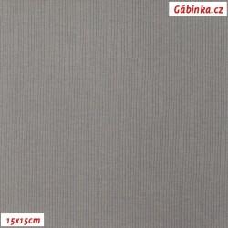 Náplet žebrovaný, B - Středně šedý 2182, šíře 100 cm, 10 cm, ATEST 1