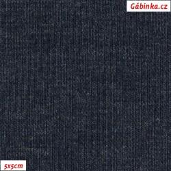 Náplet žebrovaný, A - modrý jeans 1001, šíře 120 cm, 10 cm, ATEST 1