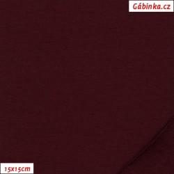 Teplákovina s EL 90/10, B - Vínová 1167, 15x15 cm