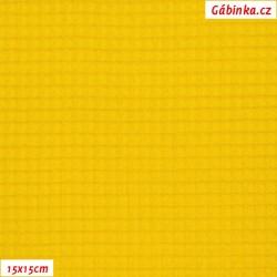 Vafle MINI - žlutá, ATEST 2, 15x15 cm